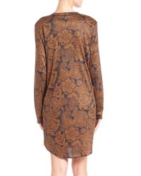 Hanro - Brown Mona Lisa Sleepshirt - Lyst