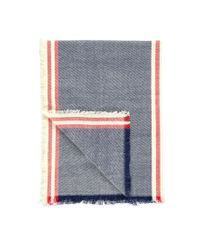 Forever 21 - Blue Frayed Stripe-patterned Scarf - Lyst