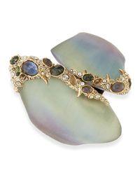 Alexis Bittar | Gray Crystal Lace Asymmetric Lucite Bracelet | Lyst