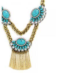BaubleBar | Metallic Turquoise Fringe Bib | Lyst