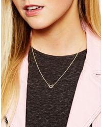 ASOS - Metallic Good Luck Horseshoe Necklace - Lyst