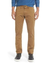 Billy Reid | Brown 'ashland' Straight Leg Cotton Pants for Men | Lyst