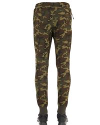 Nike | Green Camo Printed Cotton Blend Jogging Pants for Men | Lyst