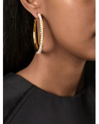 Aurelie Bidermann | Metallic 'cheyne Walk' Hoop Earrings | Lyst