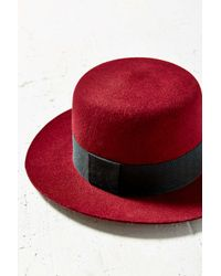 Urban Outfitters - Red Sadie High Crown Felt Hat - Lyst