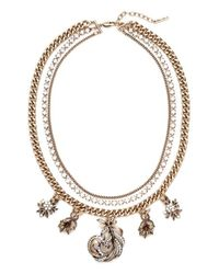 Allison Reed - Metallic Three Strand Feather Necklace - Lyst