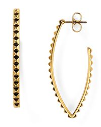 Rebecca Minkoff | Metallic Studded Hoop Earrings | Lyst