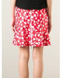 Emanuel Ungaro | Red Tulip Print Skirt | Lyst