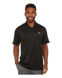 Adidas   Black Climacool® Debossed 3-stripes Polo for Men   Lyst