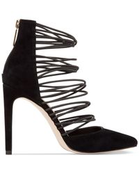 BCBGeneration | Black Caliko Suede Strappy Pumps | Lyst