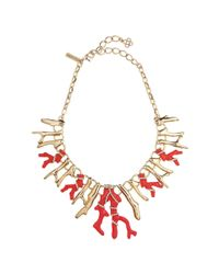 Oscar de la Renta | Red Coral Shaped Necklace | Lyst