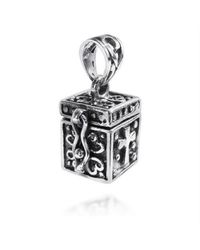 Aeravida | Metallic Christian Prayer Box Locket Sterling Silver Pendant | Lyst
