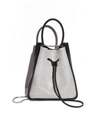 3.1 Phillip Lim - Gray Soleil Small Bucket Drawstring Bag - Lyst