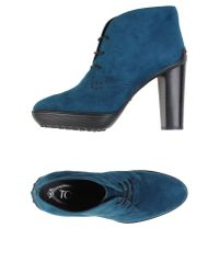 Tod's - Blue Lace-up Shoes - Lyst