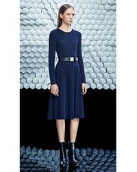 BOSS - Blue Dress In Viscose Blend: 'filona' - Lyst