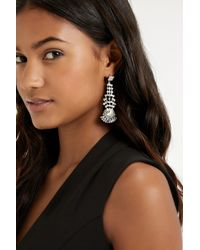 Oasis - Metallic Sparkle Cupchain Drop Earring - Lyst