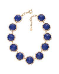 Trina Turk | Blue Lg Round Set Stones In Crystal Bezel | Lyst