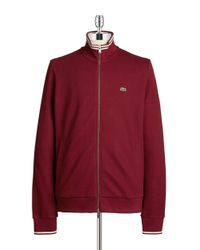 Lacoste | Red Varsity Knit Zip Up for Men | Lyst
