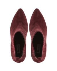 Dune   Red Olivv Suede Pointed Toe Ankle Boot   Lyst