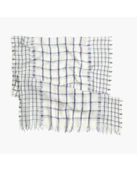 J.Crew | White Windowpane Scarf | Lyst