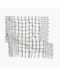 J.Crew - White Windowpane Scarf - Lyst