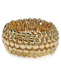 Ralph Lauren - Metallic Lauren Round Pendant Stretch Bracelet - Lyst