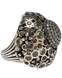 Stephen Dweck - Metallic Silver Quartz And Diamond Ring - Lyst