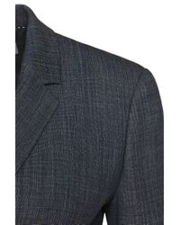 BOSS - Blue 'juleani' | Stretch Virgin Wool Blend Blazer - Lyst