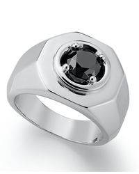 Macy's | Men's Black Diamond Ring In Sterling Silver (2 Ct. T.w.) for Men | Lyst