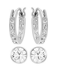 Swarovski - Metallic Canvas Earrings - Lyst
