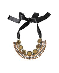 Marni - Black Pistachio Crystals Necklace - Lyst