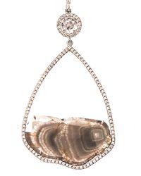 Susan Foster - Metallic Diamond Slice Pavé Whitegold Earrings - Lyst