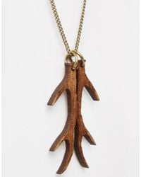 Tatty Devine | Brown Antlers Necklace | Lyst
