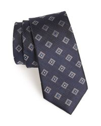 Calibrate | Blue 'lesbos' Medallion Silk Tie for Men | Lyst