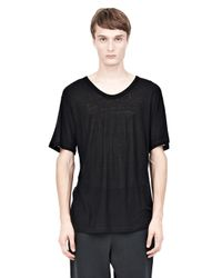Alexander Wang - Black Slub Rayon Silk Crewnecktee for Men - Lyst