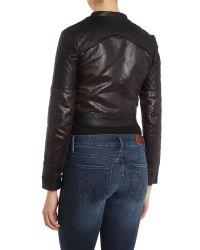 Lipsy - Black Kardashian Kollection Quilted Biker Jacket - Lyst