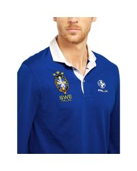 "Ralph Lauren | Blue ""rlx"" Country Pima-blend Polo for Men 