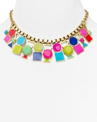 kate spade new york | Multicolor Ipanema Tile Short Necklace 16 | Lyst