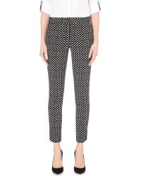 Diane von Furstenberg | White Genesis Slim-fit Stretch-crepe Trousers | Lyst