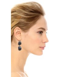 Sam Edelman - Blue Pave Stone Double Drop Earrings - Lyst