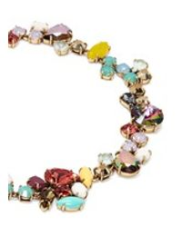 J.Crew - Multicolor Crystal Foliage Necklace - Lyst