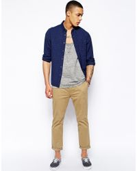 ASOS - Natural Slim Chinos In Cropped Length for Men - Lyst
