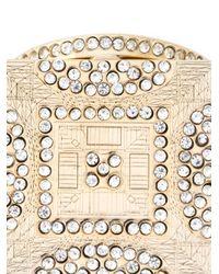 Ledaotto | Metallic Crystal Embellishment Ring | Lyst