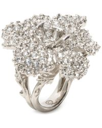 Alexander McQueen | Metallic Flower Ring | Lyst
