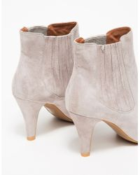 Jeffrey Campbell - Gray Suja Suede Ankle Boots - Lyst