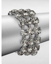 ABS By Allen Schwartz - Metallic Faceted Multi-row Bracelet - Lyst