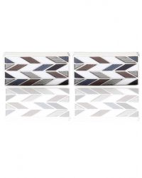 Jules B - Metallic Patterned Cufflinks for Men - Lyst