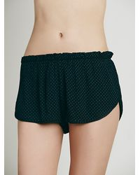 Free People | Black La Sleep In Boxer | Lyst
