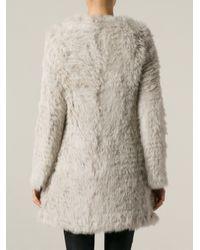 Giorgio Brato - White Boxy Fur Coat - Lyst