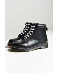 Dr. Martens | Black Padded Collar 6-eye Boot | Lyst